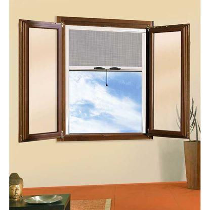Immagine di Zanzariera a rullo, per finestra verticale, colore bronzo, 160x170 cm