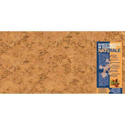 Immagine di Rivestimento in sughero, lastra 30x60 cm, spessore 3 mm, aspetto della corteccia fine, superficie a vista rustica, confezione da 5 pezzi