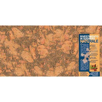 Immagine di Rivestimento in sughero naturale, 30x60x0,3 cm, confezione 5 lastre da 0,90 m²