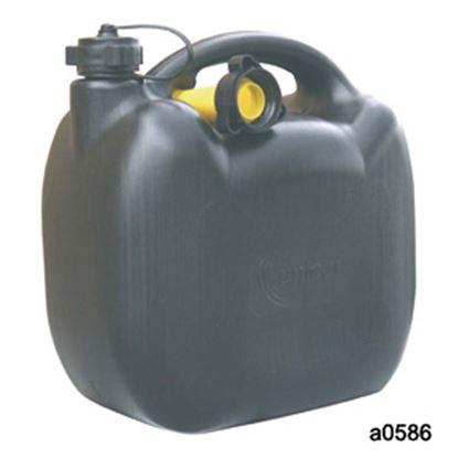 Immagine di Tanica benzina, in plastica, omologata, 5 lt
