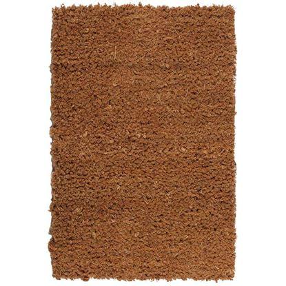 Immagine di Zerbino in cocco, a pelo tagliato, fondo in PVC, spessore 17 mm, h 1 mt, peso 5 kg/m², colore naturale