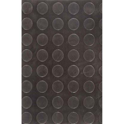 Immagine di Pavimento in gomma SBR, spessore 3 mm, h 1,25 mt, peso 4,5 kg/m², colore nero, superficie bollo