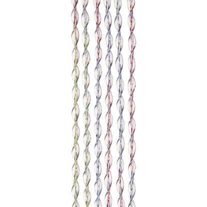 Immagine di Tenda Storm, in PVC mordido e atossico effetto elica, esterno/interno, supporto in PVC, effetto multicolore, 125xh230 cm