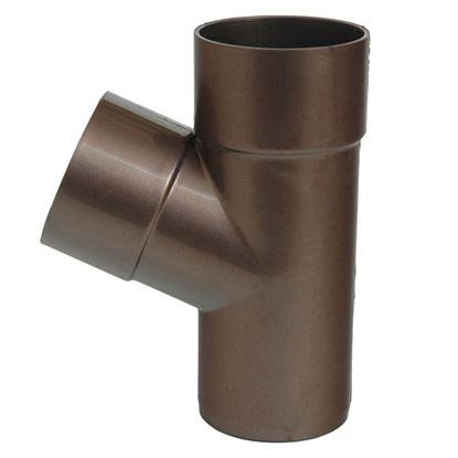 Immagine di Braga Tecno Imac, per tubo discendente, Ø 80 mm, - 67°, colore marrone