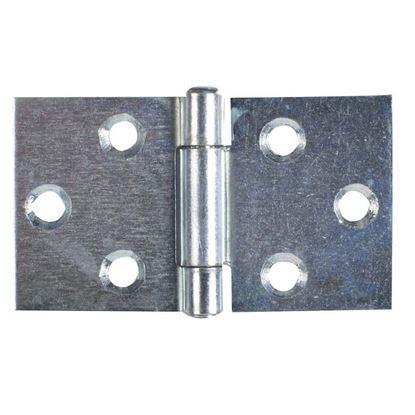 Immagine di 2 Cerniere rettangolari, zincate,  2 pezzi, 64x110 mm