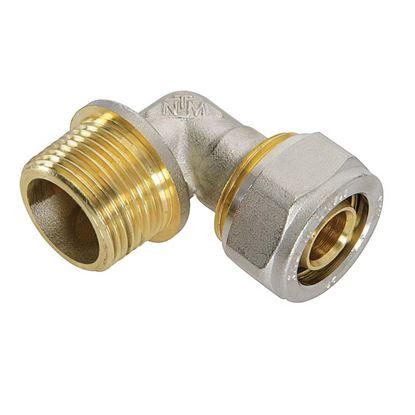 """Immagine di Raccordo a stringere a gomito, per tubo multistrato, M 1""""x26 mm"""