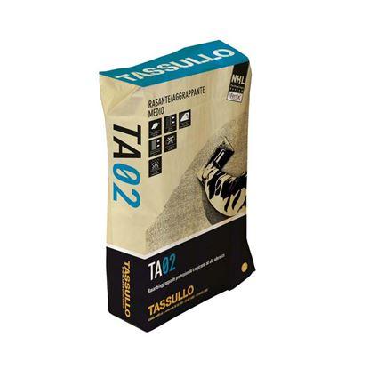 Immagine di Rasante Tassullo, aggrappante medio, in calce idraulica naturale, confezione 25 kg