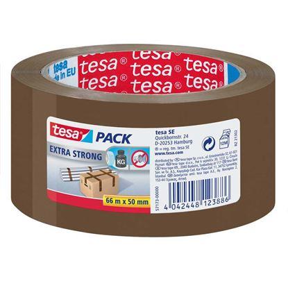Immagine di Nastro da imballo Extra forte, PVC, adatto per chiusure cartoni di peso medio-elevato, mt 66x50 mm, colore avana