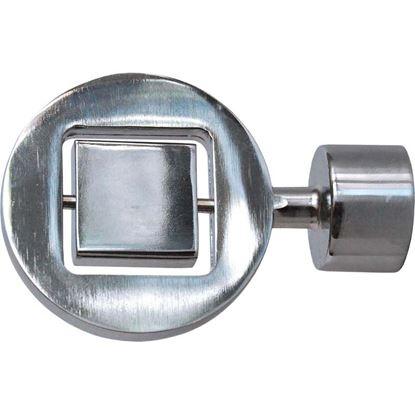 Immagine di Terminale Disco, Easy Contemporaneo, Ø 20 mm, 2 pezzi, cromato