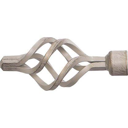 Immagine di Terminale Croco, Easy Basico, Ø 20 mm, 2 pezzi, colore nero/argento