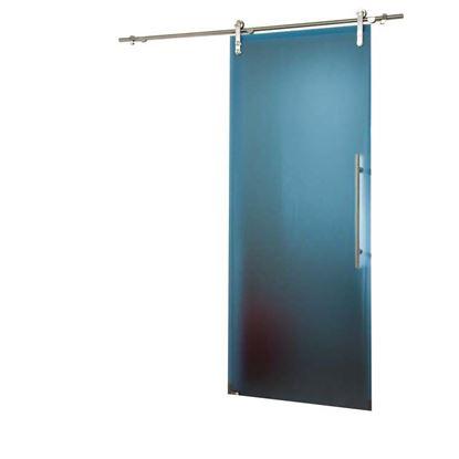 Immagine di Porta scorrevole, cristallo temperato, 10 mm, blu, 86x215 cm