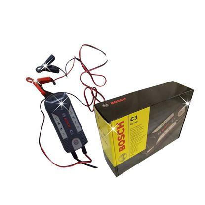 Immagine di Caricabatteria Bosch, C3, automatico, per batterie al piombo 6 V e 12 V, per auto e moto, max 6 V-14 Ah, 12 V-120 Ah