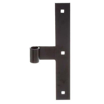 Immagine di Bandella a T, forma diritta, estremità diritta, Ø 14 mm, 250x35 mm, colore nero