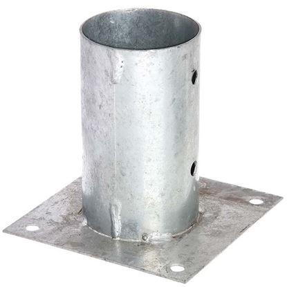 Immagine di Portapalo da avvitare, per pali tondi, zincato a fuoco, Ø 81 mm