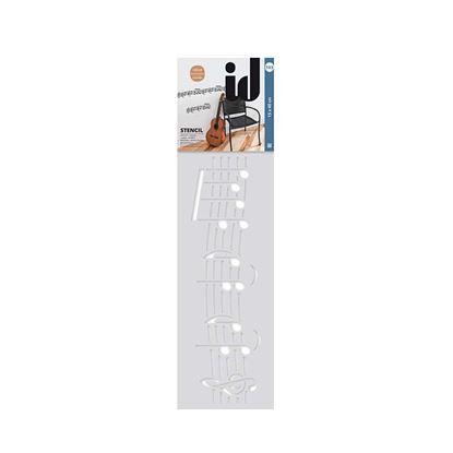 Immagine di Stencil bordo, 150x400mm, n° 103 musica