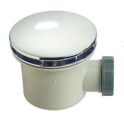 Immagine di Piletta doccia PVC Wirquin, Ø 90 mm, uscita Ø 40 mm, ispezionabile, calotta ABS, cromato