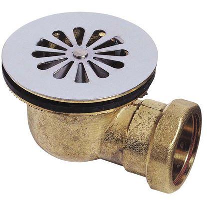 Immagine di Piletta doccia Wirquin, ottone, Ø 60 mm, uscita orizzontale, Ø 40 mm