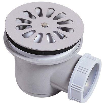 Immagine di Piletta doccia Wirquin, PVC, Ø 60 mm, uscita orizzontale, Ø 40 mm, avvitare/incollare