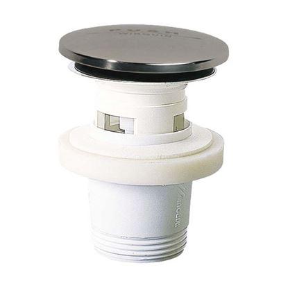 Immagine di Piletta lavabo quick-clack Wirquin, altezza 75 mm, PP, con troppo pieno