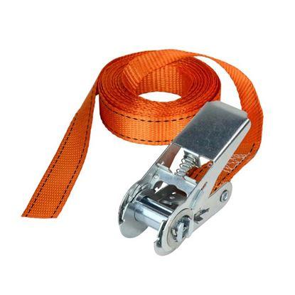 Immagine di Cinghia con cricchetto, Fast Link™, colore arancio, mm 25x5 mt, resistenza 150 kg