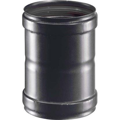 Immagine di Manicotto, per stufa a pellet, FF Ø 80 mm, colore nero