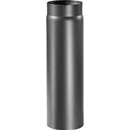 Immagine di Tubo per stufa a legna, colore nero, Ø 130 mm, 50 cm