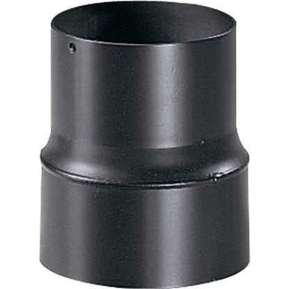 Immagine di Riduzione per stufa a legna, colore nero, F/M Ø 140/130 mm