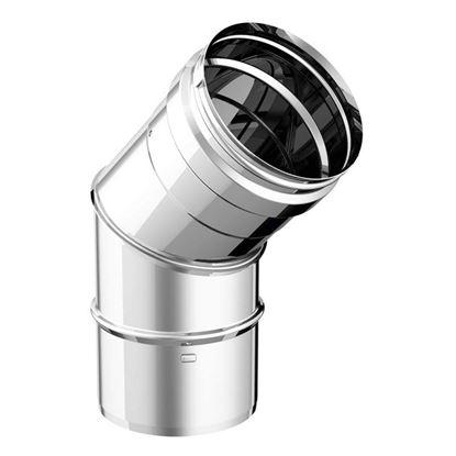 Immagine di Curva a 45°, acciaio inox AISI 316L, monoparete, Ø 100 mm