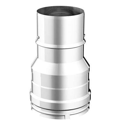 Immagine di Riduzione, acciaio inox AISI 316L, monoparete, F Ø 80 mm, M Ø 100 mm