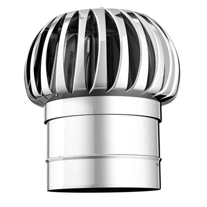 Immagine di Terminale eolico, acciaio inox, monoparete, AISI 316 L, Ø180 mm