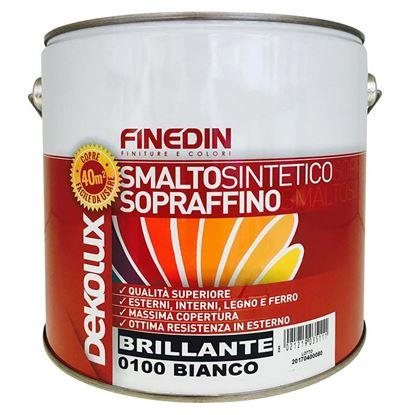 Immagine di Smalto sintetico Finedin, Dekolux, brillante sopraffino di prima qualità, 0,75 lt, colore verde persiana