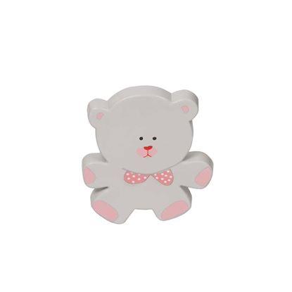 Immagine di Pomolo decorativo, ABS, orso, 75 mm