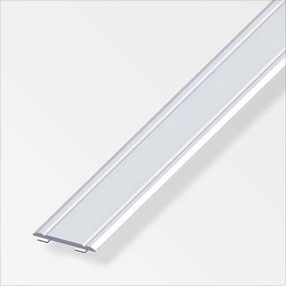 Immagine di Profilo di raccordo autoadesivo, 30x2 mm, 1,0 mt, alluminio argento