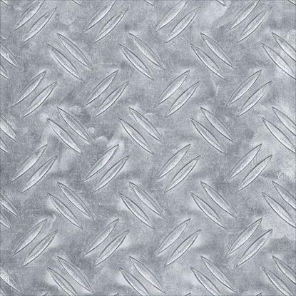 Immagine di Lamiera mandorlata, alluminio naturale, 250x500x2 mm