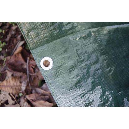 Immagine di Telo occhiellato, multiuso in polietilene, robusto e impermeabile, bordo rinforzato, colore verde, 120 gr/m², 3x4 mt