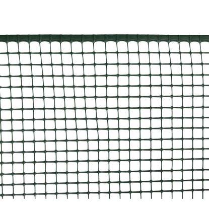 Immagine di Rete maxi-quadra, in polipropilene HDPE, colore verde, maglia 20x20 mm, 1x5 mt
