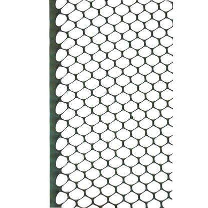 Immagine di Rete esagonale, in polipropilene HDPE, colore verde, maglia 15 mm, 0,5x5 mt