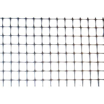 Immagine di Rete avicola, in polipropilene PP, colore grigio, maglia 27x24 mm, 1x10 mt