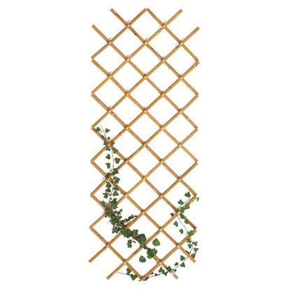 Immagine di Traliccio in bamboo, estensibile, colore naturale, canna Ø 20/22 mm, 150x180 cm