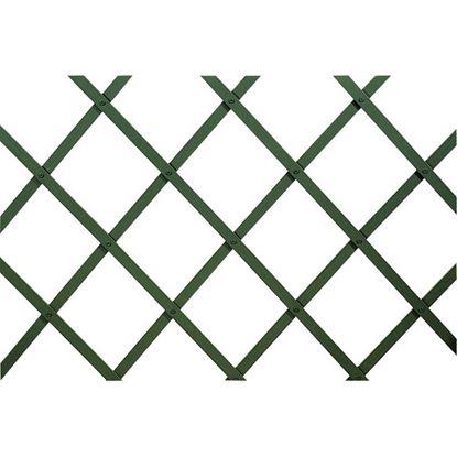 Immagine di Traliccio in plastica, estensibile, colore verde, listello 22x6 mm, 100x300 cm