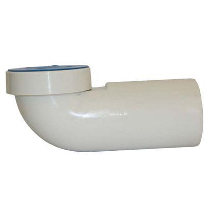 Immagine di Curva per WC bassa HTSB, colore bianco, con guarnizione e tappo, 90°, Ø 110 mm