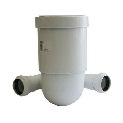 Immagine di Curva prolungata HTSB, per WC, colore bianco, Ø 110, con 2 derivazioni Ø 40 mm