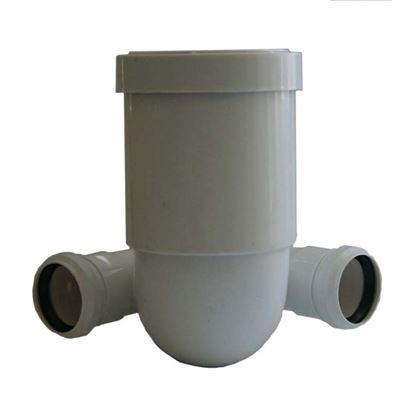 Immagine di Curva prolungata HTSB, per WC, colore bianco, Ø 110, con 2 derivazione Ø 50 mm