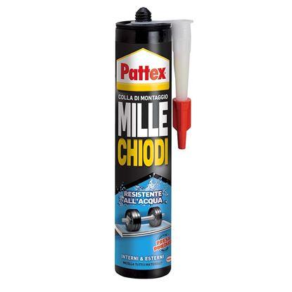 Immagine di Pattex millechiodi water resistant, resistente ad acqua, umidità e sbalzi di temperatura, 450 gr