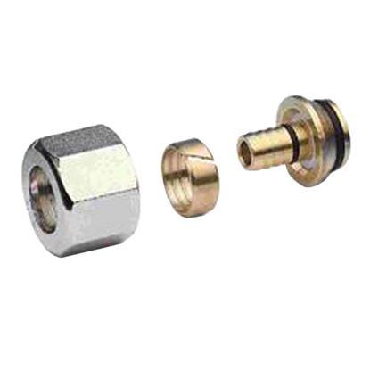 Immagine di Raccordo Sicurbloc coppia, per tubi multistrato, Ø 16 mm, 2 pezzi