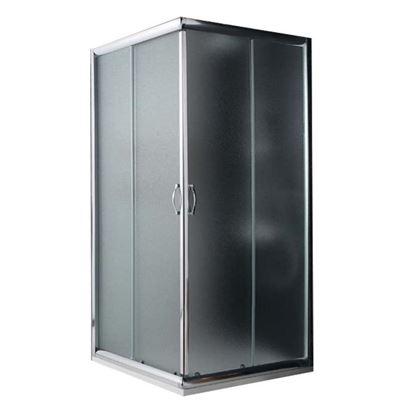 Immagine di Box doccia Giada, profilo alluminio anodizzato cromo lucido, cristallo 6 mm opaco, 70x70xh185 cm
