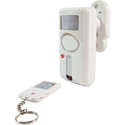 Immagine di Allarme di movimento, ad infrarossi, attivazione e disattivazione tramite telecomando, portata 6 mt, 2 funzioni suoneria