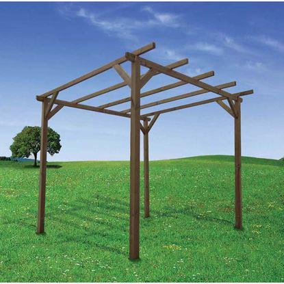 Immagine di Pergola libera, struttura autoportante, in pino, 3x3 mt