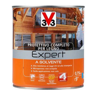 Immagine di Protettivo a solvente V33, Expert, per legno, protegge il legno da muffe e agenti deterioranti, 0,75 lt, noce antico