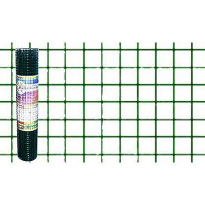 Immagine di Rete plastificata verde, maglia 13x13 mm, rotolo cm 80x5 mt